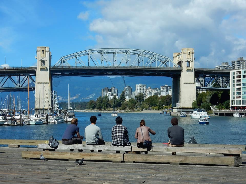 Burrard street bridge in Vancouver BC