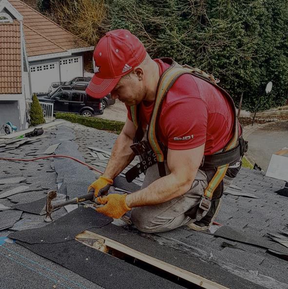 example of vancouver's roofing company on roof