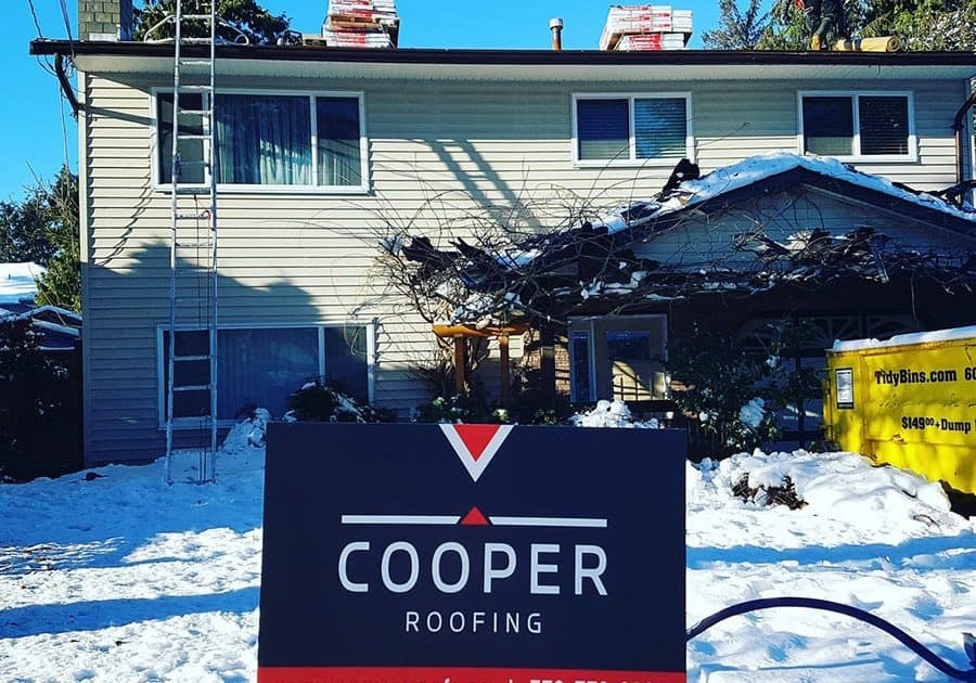 A roofing job done by Cooper Roofing in The West End, BC