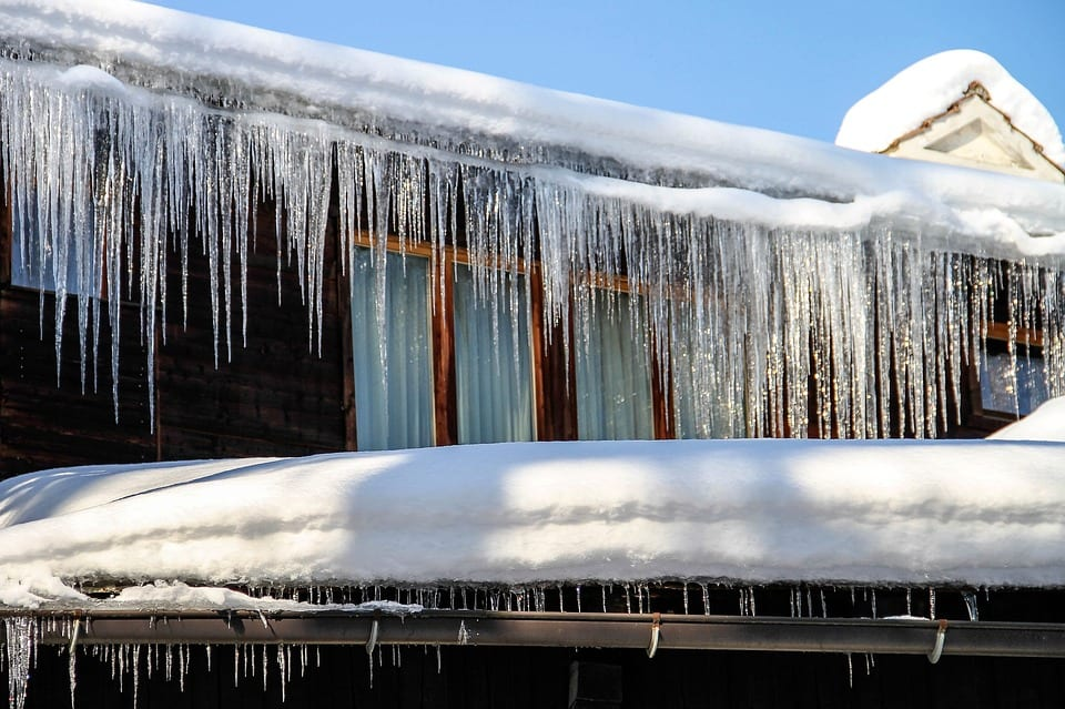 ice dams may cause you to need roofing repair